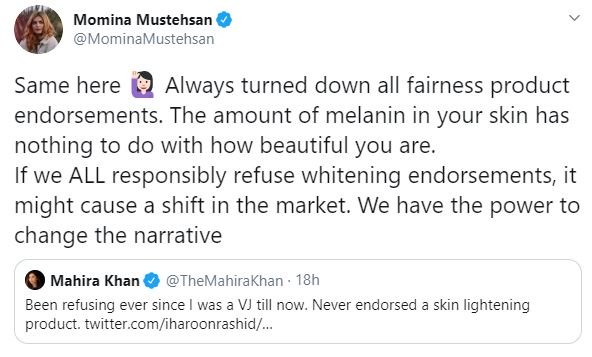 Momina Mustehsan on Skin Lightening: