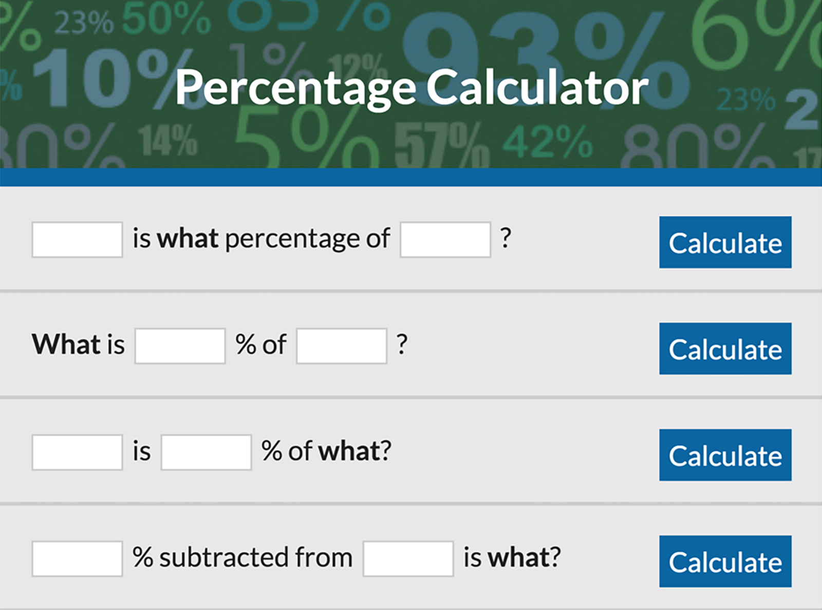 Calculate Your Percentage From Any Number – Percentage Calculator