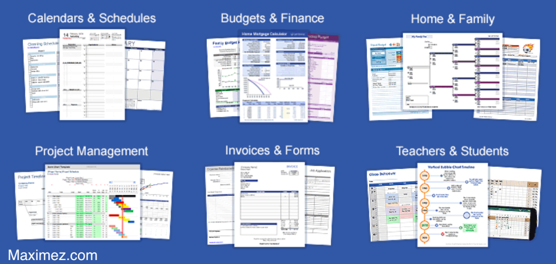 Free Unlimited Excel Templates and Spreadsheets