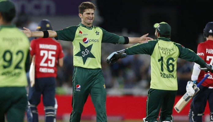 Shaheen Afridi wins Player of the Match award in first England T20