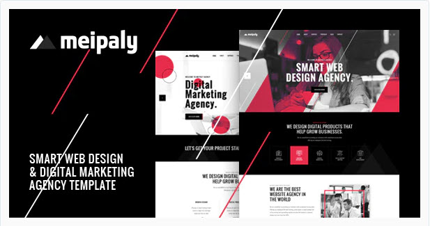 Download Meipaly Digital Services Agency HTML5 Template Free